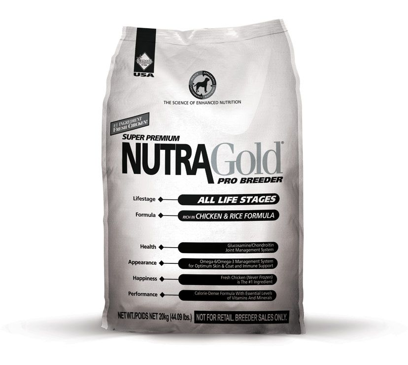 Nutra Gold Breeders Bag 20kg Diamond Petfood USA