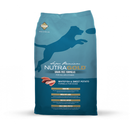 Nutra Gold Grain Free Whitefish & Sweet Potato Diamond Petfood USA