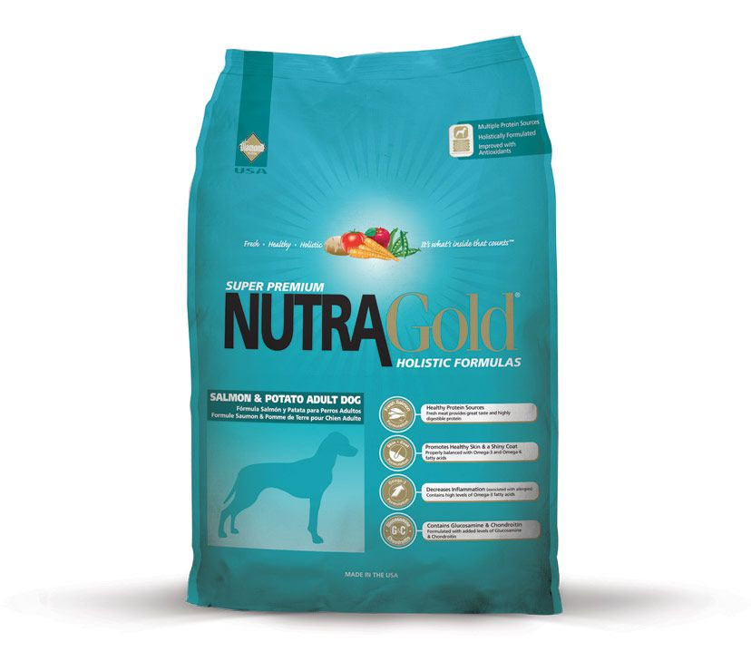Nutra Gold Holistic Salmon & Potato Adult Dog Diamond Petfood USA