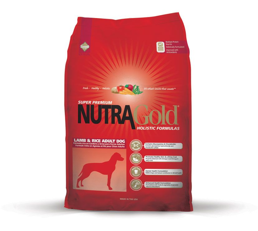 Nutra Gold Holistic Lamb&Rice Adult Dog Diamond Petfood USA