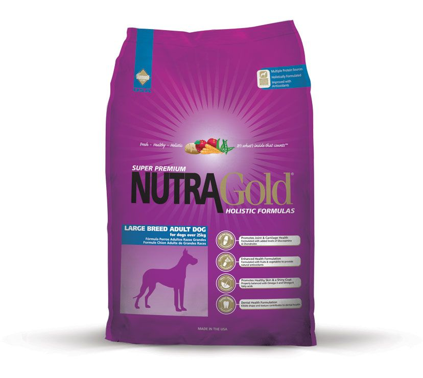 Nutra Gold Holistic Large Breed Adult 15kg Diamond Petfood USA